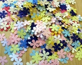 flower power -- scrapbooking -- confetti hand punched flowers -- 250 pieces variety pack