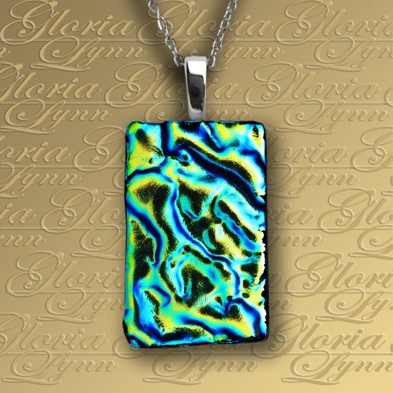 Fused Dichroic Glass Pendant Dichroic Glass Pendant Fused