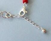 Clip on sterling silver bracelet extender chain.