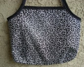 Black and White Floral Bag