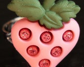 cute pink strawberry ring