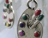 Simply Simple Artist Palette Earrings