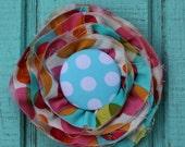 Pretty.  Messy. Flower Pin.  Camden