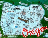 Postcard From Oregon Print
