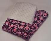 SALE Modern Chocolate Dot Minky Blanket