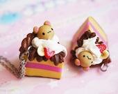 Bear cake - cute polymer clay miniature