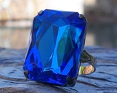 Royal Blue Jewel Ring