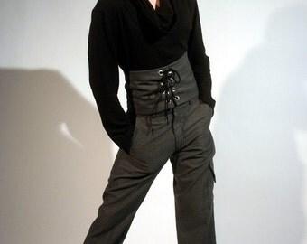 Men's medium grey slacks with side pocket, Ray Vincente