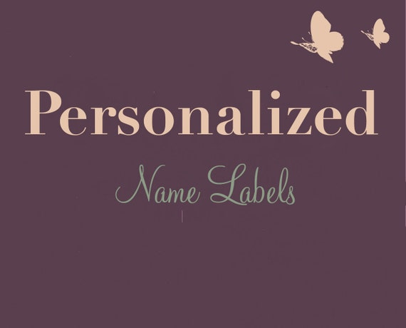 Personalized NAME Label