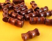 Dark Brown Wood Beads Set of 100