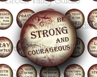 INSTANT DOWNLOAD Digital Collage Sheet Religious Quotes Christ Love Inspirational Phrases One Inch Circles for Pendants Magnets (C88)