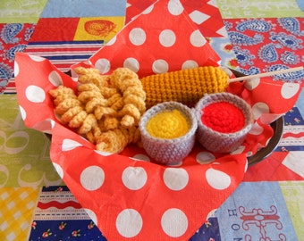 Corndog Crochet Toy Food Set
