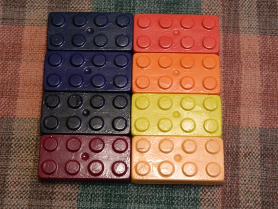Lego Brick Crayons Recycled/Upcycled