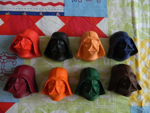 Star Wars Darth Vader Crayons Recycled/Upcycled