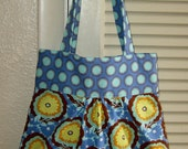 SALE - Morgan Bag (squared) in Amy Butlers Soul Blossoms fabric