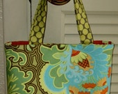Jillyd Bag in Amy Butler Coriander and Gothic Rose