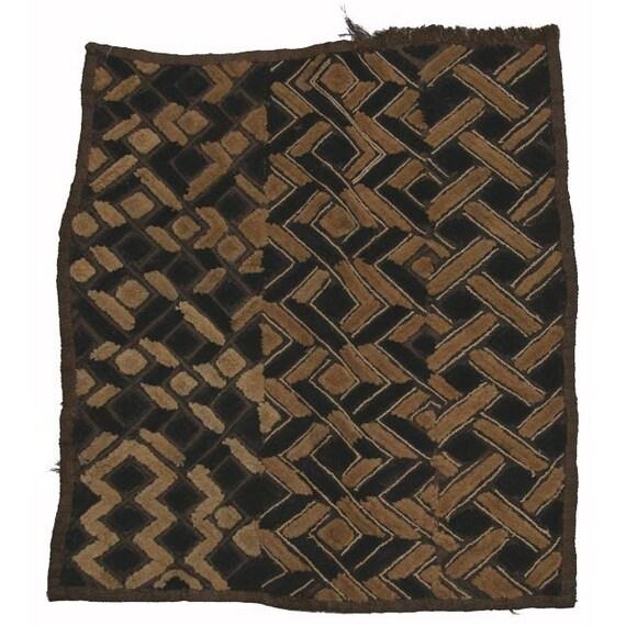 Vintage African Textile: Zaire, Woven Kuba Cloth, Item 5