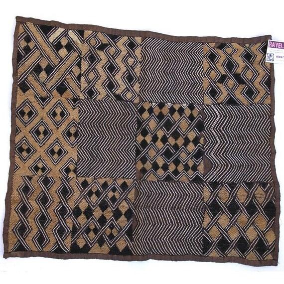 Vintage African Textile: Zaire, Woven Kuba Cloth, Item 2