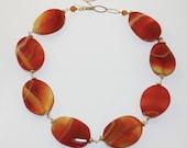 Agate Fire Necklace SALE