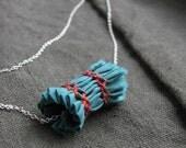 SALE - rusty green - fabric bead