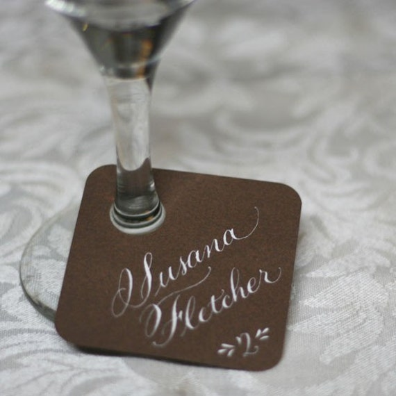 Wine Tag Escort Card - Custom for Lindsey