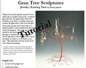 Jewerly Earring Tree Tutorial (.pdf download)