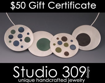 Gift Certificate for 50 Dollars to Studio 309 Designs