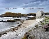 Ballintoy Harbor, Co. ANTRIM , Irish SEASIDE Photo, Beach Cottage, Beachy Decor, Blue and White, Northern IRELAND Fine Landscape Photography