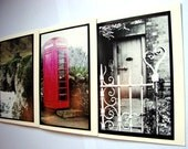 Ireland Photo Cards ...Red Phone Box , Castle and Dublin Door Set of 3