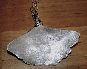 Beautiful Ginko leaf 925 Sterling Silver Pendant, Leaf Necklace by zulasurfing