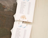 Wedding Seating Chart Custom Vertical Banner - Printed Banner with Guests and Table Numbers, Big Tree Design - Design Fee