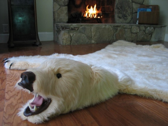 soft and glamorous white faux polar bearskin rug limited. Black Bedroom Furniture Sets. Home Design Ideas
