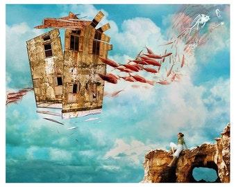 Reminiscence - 8x10 Print - Surreal Illustration
