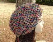 Painted Desert hippie tam small dreadlock slouchy beanie hat snood