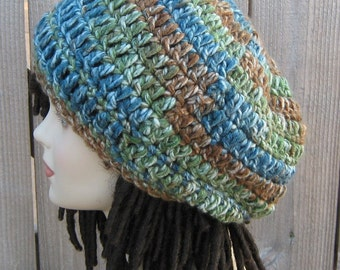 Thick Slouchy Beanie Dreadlock Hippie Dread tam beret hat, slouchy hat, winter hat