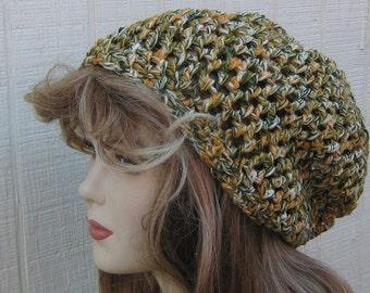 Maize Field Slouchy Beanie, Hippie Dread Tam Hat, Bohemian slouch beanie, Slouchy Beanie hat, wool blend woman beanie hat