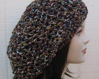 Gobelin slouchy beanie, Hippie Dreadlock Tam Hat Slouchy beanie dread cotton blend, snood beanie, summer beanie hat, slouch hat
