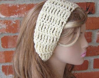 Tie head band, Vanilla Cream Dread headband dreadband head hair band wrap scarf hippie bandana