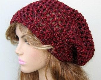 Canyon Glow slouchy beanie, Tam Hat Hippie Dreadlock Sock Slouchy beanie dread tam hat, cotton blend slouchy hat, woman beanie