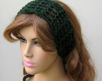 Dark Sage Dread headband dreadband head hair band wrap scarf hippie bandana
