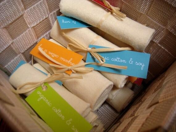ORGANIC SOY Baby Wash Cloths - Sample
