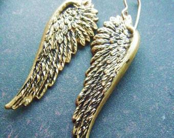 Angel Wing Earrings Bird Art Nouveau Steampunk Take Flight Gift Under 20 Free Shipping Worldwide