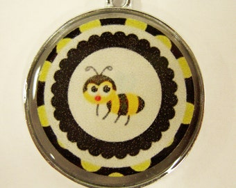 Adorable Bumble Bee Pet ID Tag