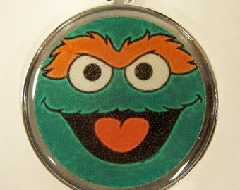 Green Oscar Sesame Street Pet ID Tag Dog Tag Cat Tag