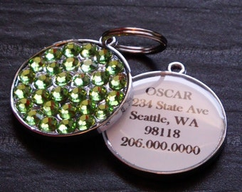 Swarovski Pet ID Tag in Peridot