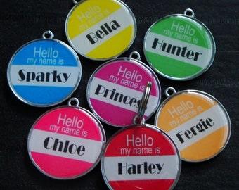YOU CHOOSE the design!!! (Design #130 - 273) Designer Pet ID Tag