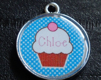 Cute Cupcakes no.1 w/ Pet's Name or Initial dog or cat Pet ID Tag Dog Tag Cat Tag