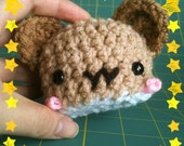 MOCHI---custom campbells dwarf hamster mochi plush