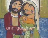 Nativity Folk Art Print by Ann Gardner 8X10