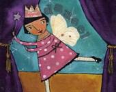Dance Princess Fairy 8X10 print Art by Ann Gardner